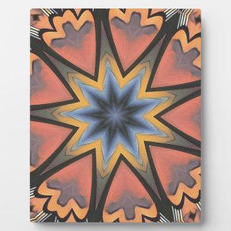 Hübscher Pfirsich-graues Sternexplosion-Muster Fotoplatte