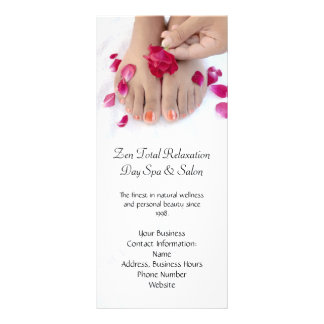 Hübscher pinkfarbener rosa Rosepedicure-Salon Karten Druck