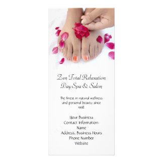 Hübscher pinkfarbener rosa Rosepedicure-Salon Werbekarten