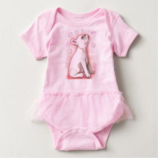Hübscher rosa Babybodysuit der französischen Baby Strampler