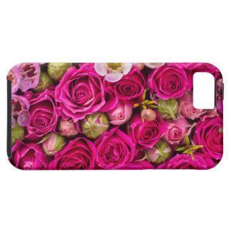 Hübscher rosa Blumentelefonkasten Tough iPhone 5 Hülle