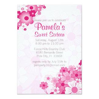 Hübscher rosa Bonbon 16 Geburtstags-Party 11,4 X 15,9 Cm Einladungskarte