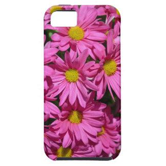 Hübscher rosa Chrysantheme-Blumendruck Tough iPhone 5 Hülle