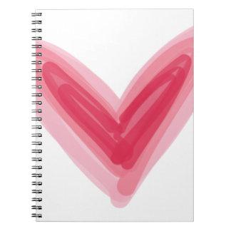 Hübscher rosa Herz-Druck, schöne Frühlings-Liebe Notizblock