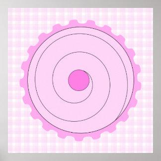 Hübscher rosa kleiner Kuchen Poster