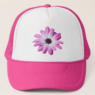 Hübscher rosa, lila Gänseblümchen-Blumenhut, Truckerkappe