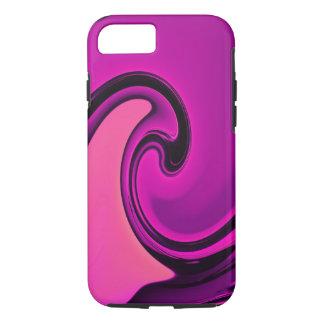 Hübscher rosa lila Strudel-Welle iPhone 7 Kasten iPhone 8/7 Hülle