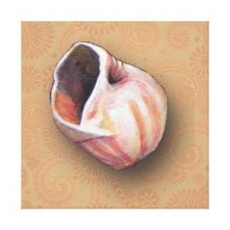 Hübscher rosa Seashell vom Strand Leinwanddruck