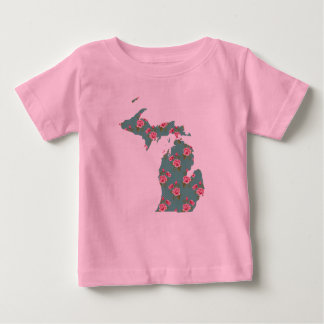 Hübscher rosa T - Shirt | Michigan der Rosen-|