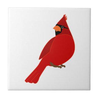 Hübscher roter Kardinal Fliese