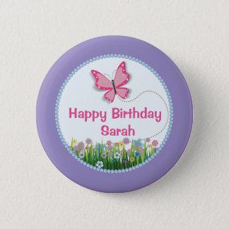Hübscher Schmetterling, Runder Button 5,7 Cm