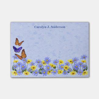 Hübscher Schmetterlings-und Post-it Klebezettel