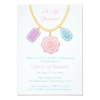 Hübscher Schmuck, der Mädchen Geburtstags-Party Karte