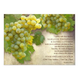 Hübscher Sommer-Wein-Land-Weinberg-rustikale 12,7 X 17,8 Cm Einladungskarte