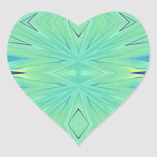 Hübscher tadelloser grüner Aqua-Pastell-Frühling Herz-Aufkleber