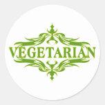 Hübscher vegetarischer Entwurf Runde Sticker