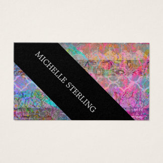 Hübscher Watercolorböhmischer abstrakter Grunge Visitenkarte