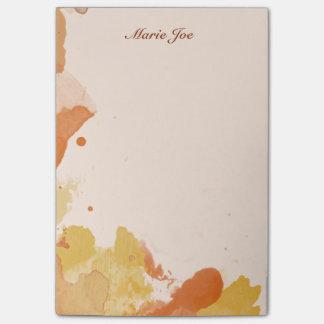 Hübscher Watercolorconfetti-Spritzer Vintages Post-it Klebezettel