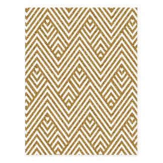 Hübscher Zickzack Zickzackdiamant formt Muster Postkarte