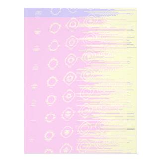 Hübsches abstraktes in blassem - Rosa und Gelb Personalisierte Flyer