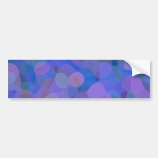 Hübsches abstraktes in Blauem, in Lila und Grün Autoaufkleber