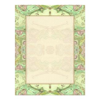Hübsches abstraktes in Gelbem, in Limonem und Rosa 21,6 X 27,9 Cm Flyer