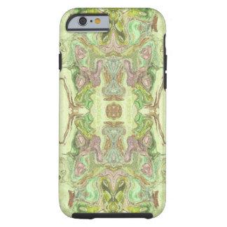 Hübsches abstraktes in Gelbem, in Limonem und Rosa Tough iPhone 6 Hülle