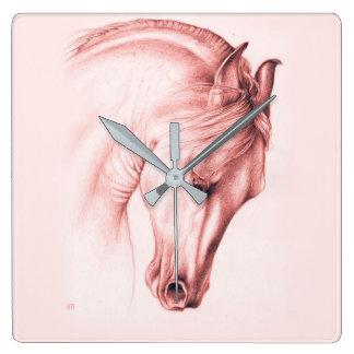 Hübsches andalusisches Pferd Quadratische Wanduhr