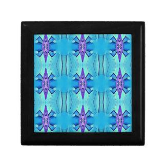 Hübsches azurblaues blaues lila Girly Muster Erinnerungskiste