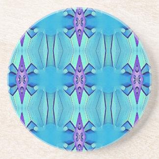 Hübsches azurblaues blaues lila Girly Muster Sandstein Untersetzer