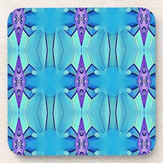 Hübsches azurblaues blaues lila Girly Muster Untersetzer