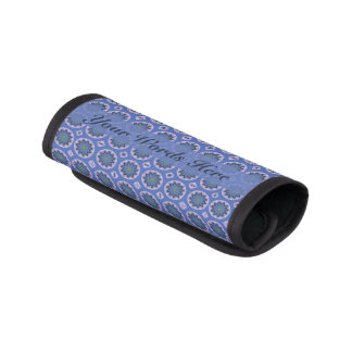 Hübsches blaues Blumenmuster Gepäck Markierung