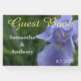 Hübsches blaues Iris-Hochzeits-Gast-Buch Gästebuch