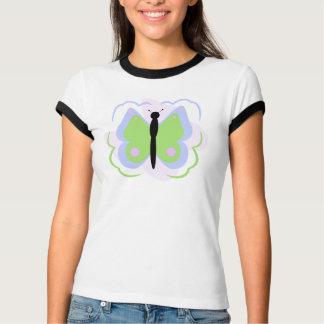 Hübsches blaues und grünes Schmetterlings-Shirt T-Shirt