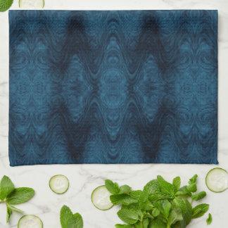 Hübsches blaues und schwarzes abstraktes küchentuch