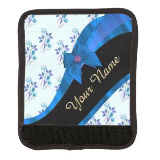 Hübsches blaues Vintages BlumenBlumenmuster Koffergriffwickel