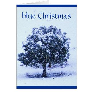Hübsches blaues Weihnachten Snowy - über den Karte