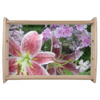 Hübsches Blumen-Serviertablett Serviertablett