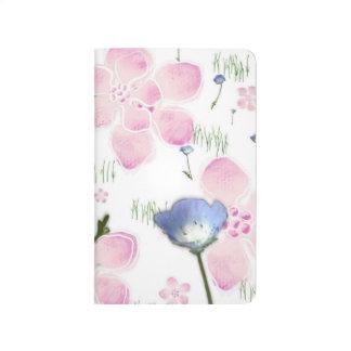 Hübsches Blumendruck-Notizbuch Taschennotizbuch
