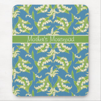 Hübsches BlumenMousepad: Maiglöckchen, blau Mousepad