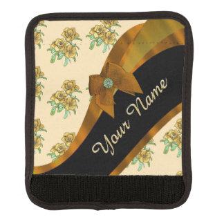 Hübsches braunes und beige Vintages Blumenmuster Gepäckgriff Marker