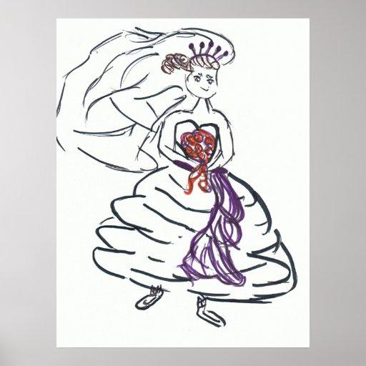 Hübsches Braut-Plakat