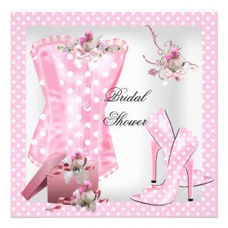 Hübsches Brautparty-weiße rosa Ankündigung