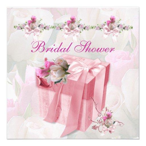Hübsches Brautparty-weiße rosa Personalisierte Ankündigung