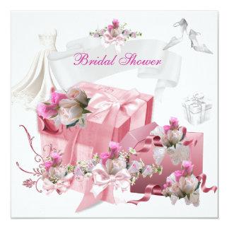 Hübsches Brautparty-weiße rosa Geschenk-Blumen