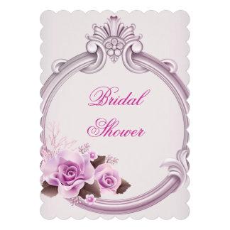 Hübsches Brautparty-weißes rosa Blumen Individuelle Ankündigungskarte