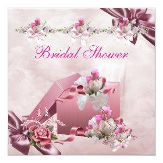 Hübsches Brautparty-weißes rosa Individuelle Ankündigung