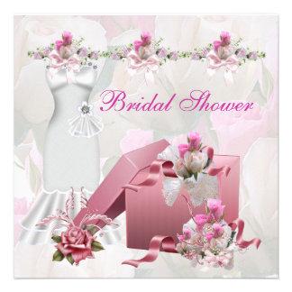 Hübsches Brautparty-weißes rosa Ankündigungskarten