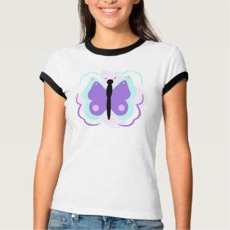 Hübsches cyan-blaues und lila Schmetterlings-Shirt T-Shirt