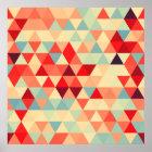 Hübsches Dreieckmuster II + Ihre Ideen Poster